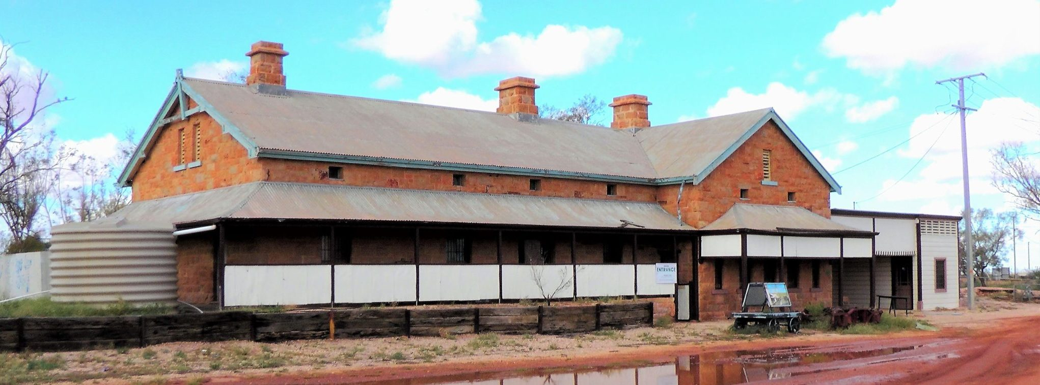 Oodnadatta Museum is housed in the old Ghan Railway Station.