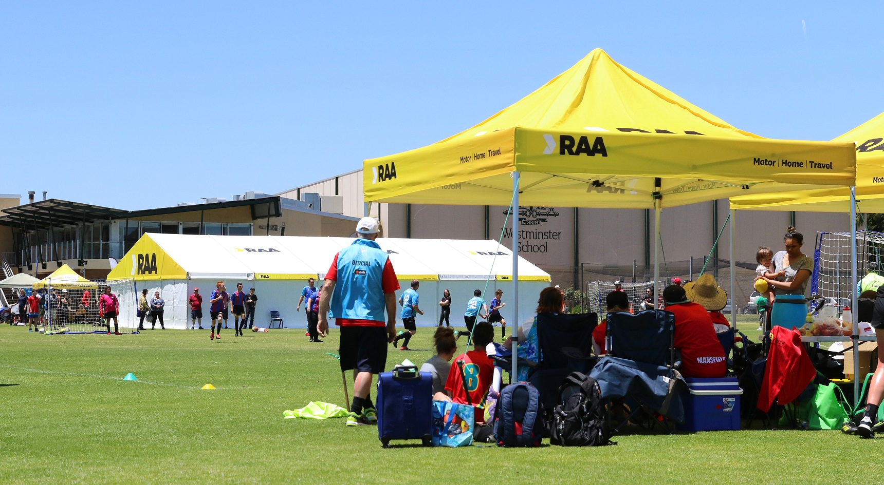 RAA provided marquees and free giveaways.