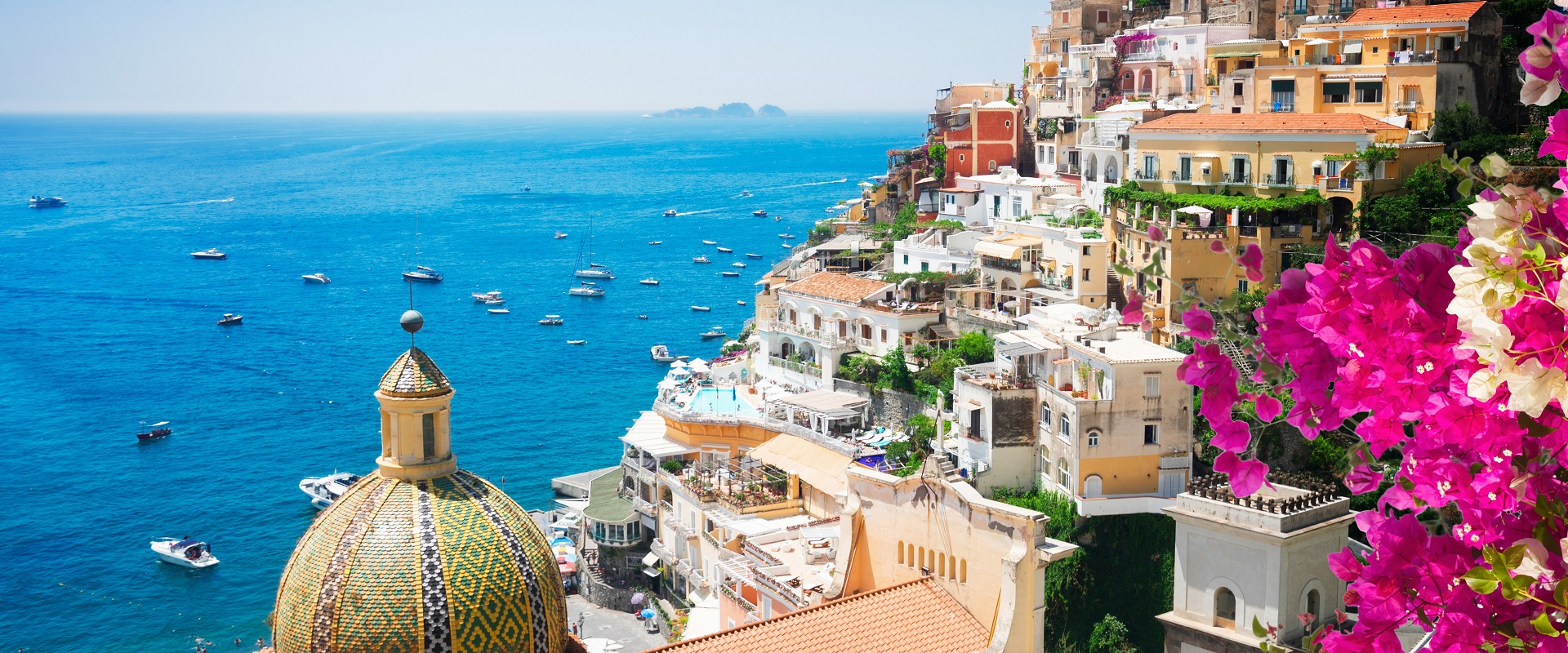 Touring the village of Positano, Italy.