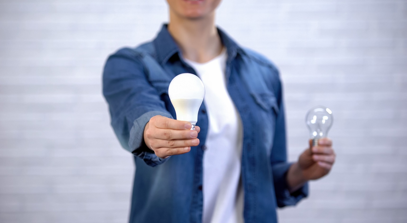 Trading halogen bulbs with LED or CFL bulbs can help you save money.