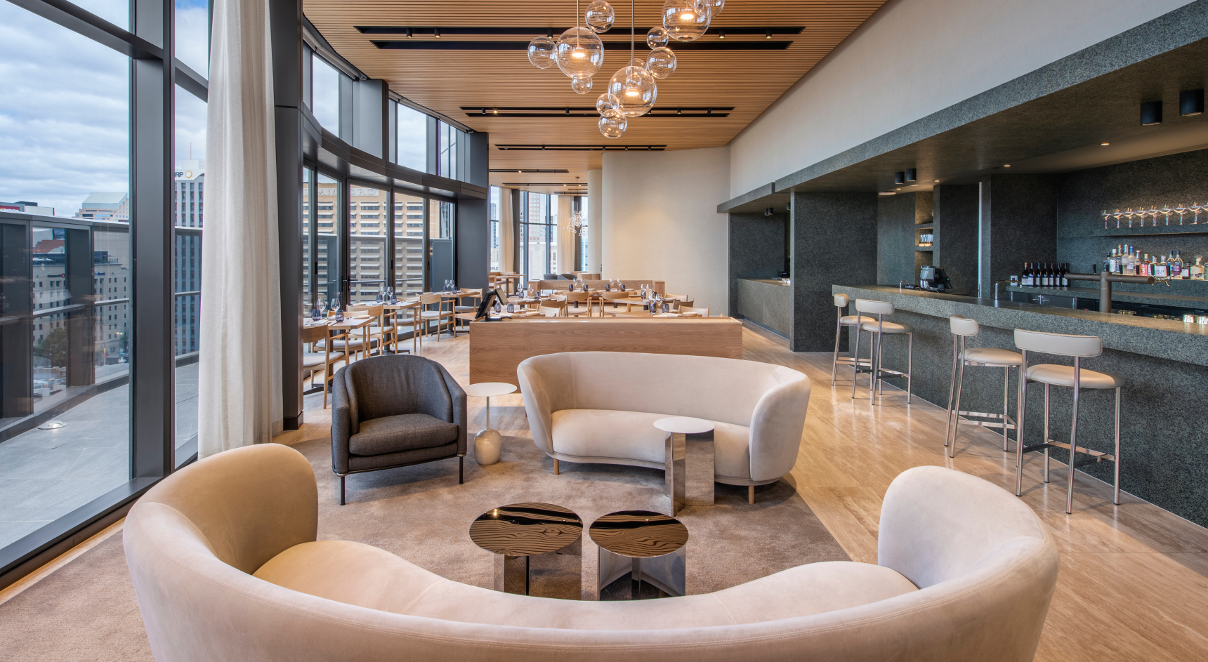 The luxurious Sol Bar and Restaurant. Image: SATC/SkyCity/David Sievers