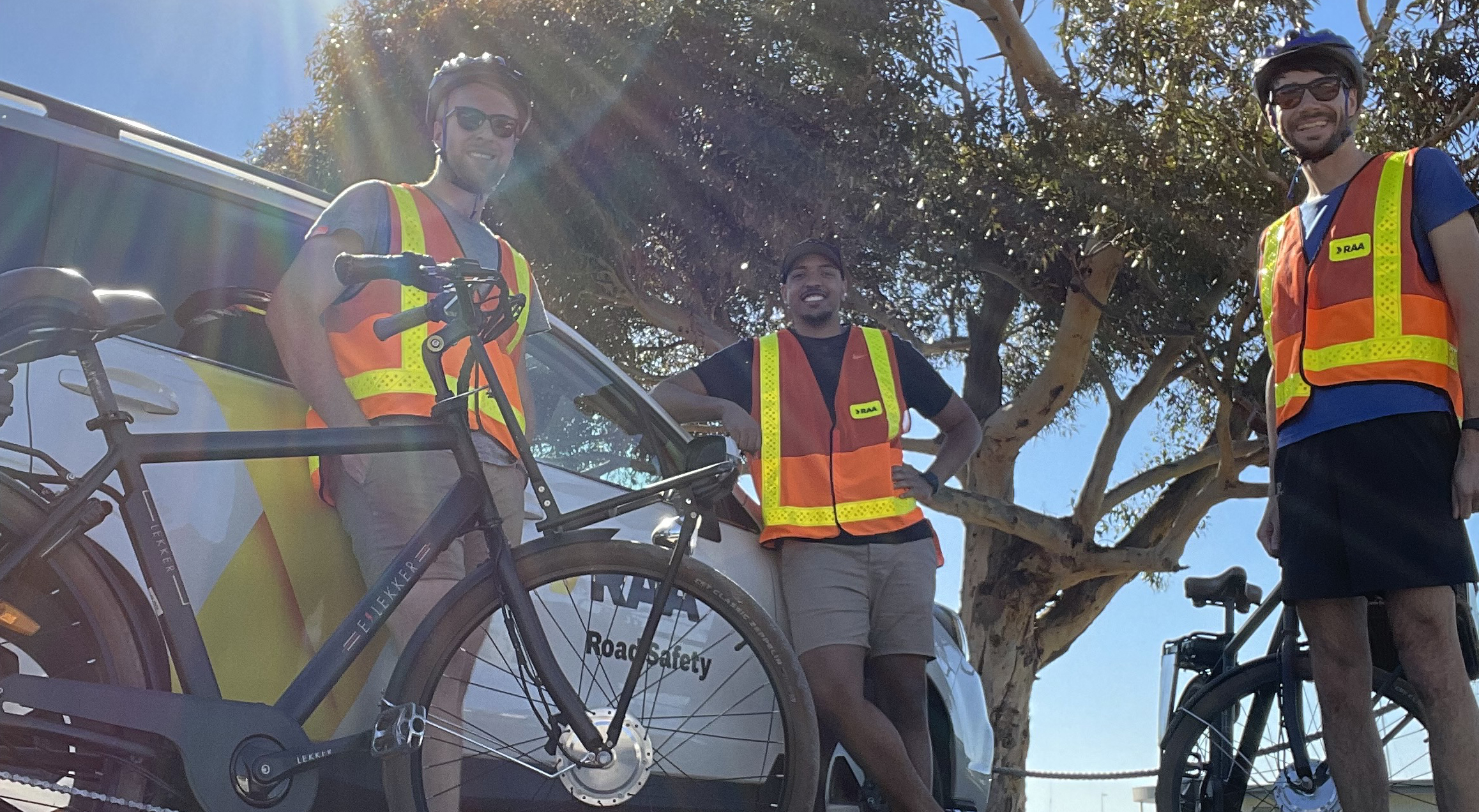 The RAA Safety and Infrastructure team on the road. Image: RAA