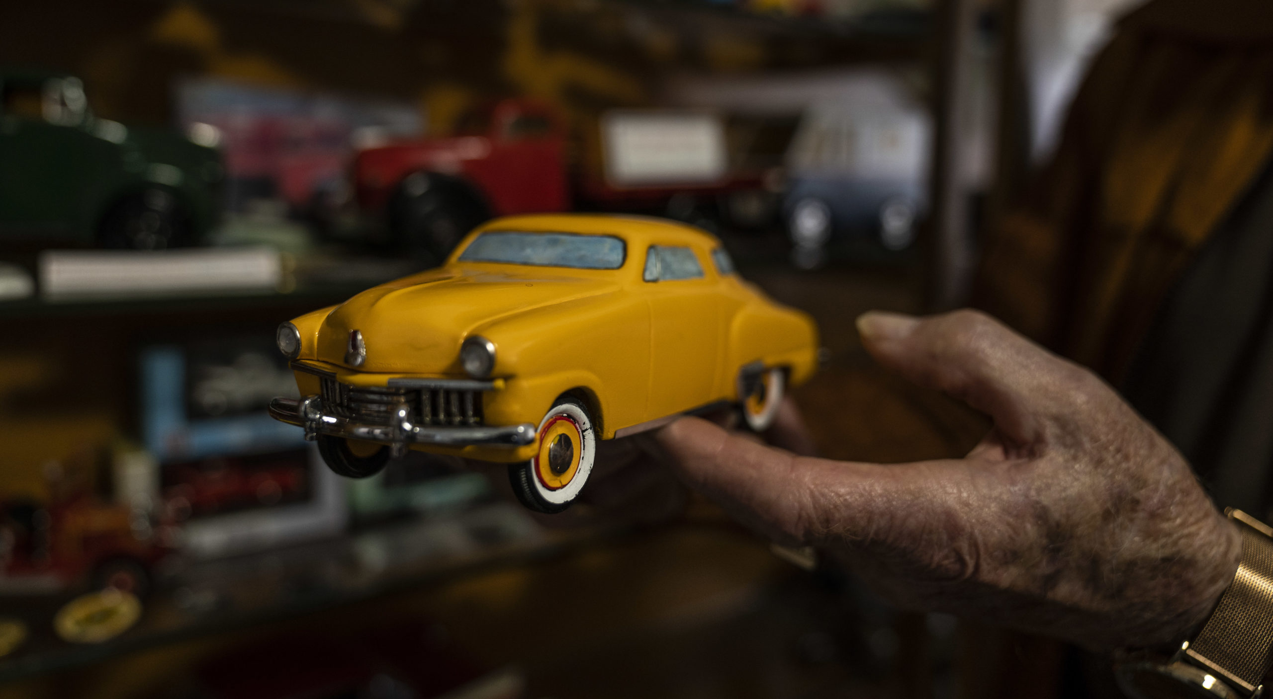 A hand-made model Peter crafted of his Studebaker. Image: RAA/Ellen Morgan